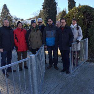 Ortstermin der SPD Mandatsträger am Friedhof in Mengerskirchen